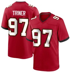 Zach Triner Tampa Bay Buccaneers Youth Game Team Color Nike Jersey - Red